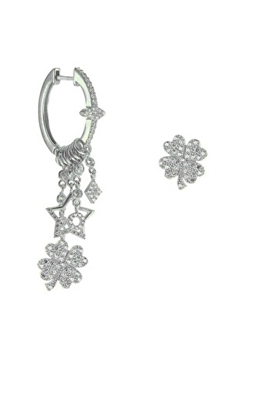 Söğütlü Silver Küpe Gümüş